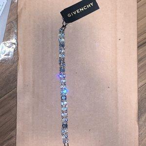 Silver-Tone Crystal Double-Row Flex Bracelet